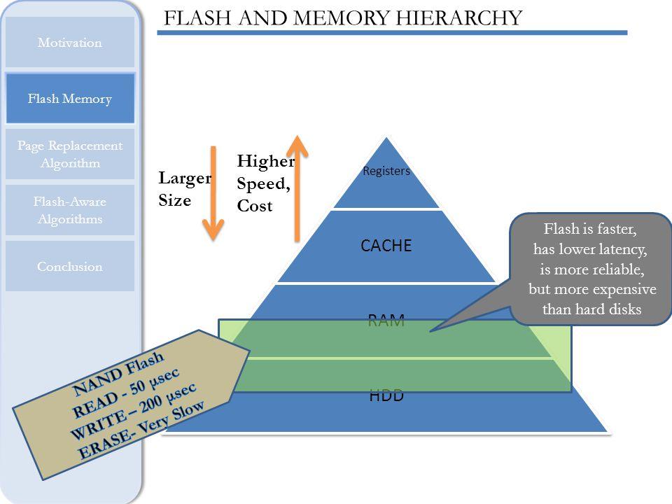 Page Replacement Algorithm Motivation Flash Memory Flash-Aware Algorithms Conclusion ARC ADVANTAGE ARC is scan-resistant.