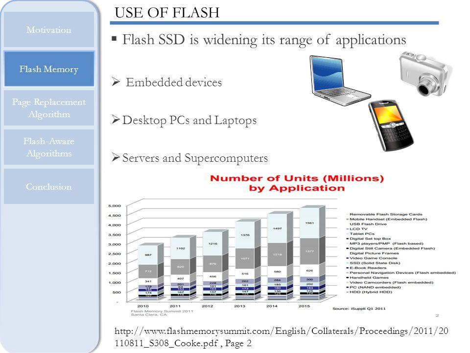 Flash Memory Motivation Page Replacement Algorithm Flash-Aware Algorithms Conclusion FLASH OPERATIONS …… Block 1Block 2Block n Three operations: Read, Write, Erase.