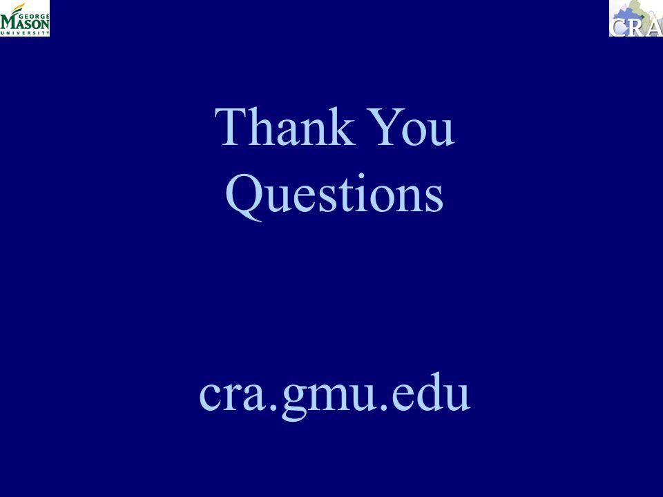 Thank You Questions cra.gmu.edu