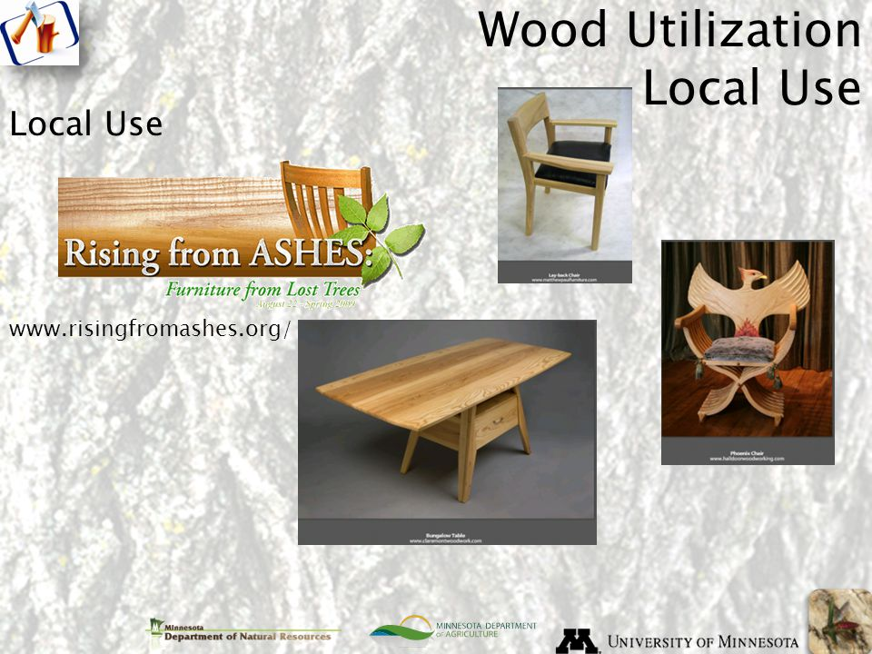 Local Use Wood Utilization Local Use www.risingfromashes.org/