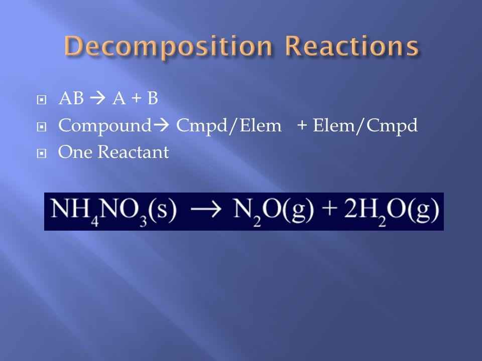 Metal + oxygen metal oxide 2Mg (s) + O 2(g) 2MgO (s) Nonmetal + oxygen nonmetallic oxide C (s) + O 2(g) CO 2(g) Metal oxide + water metallic hydroxide