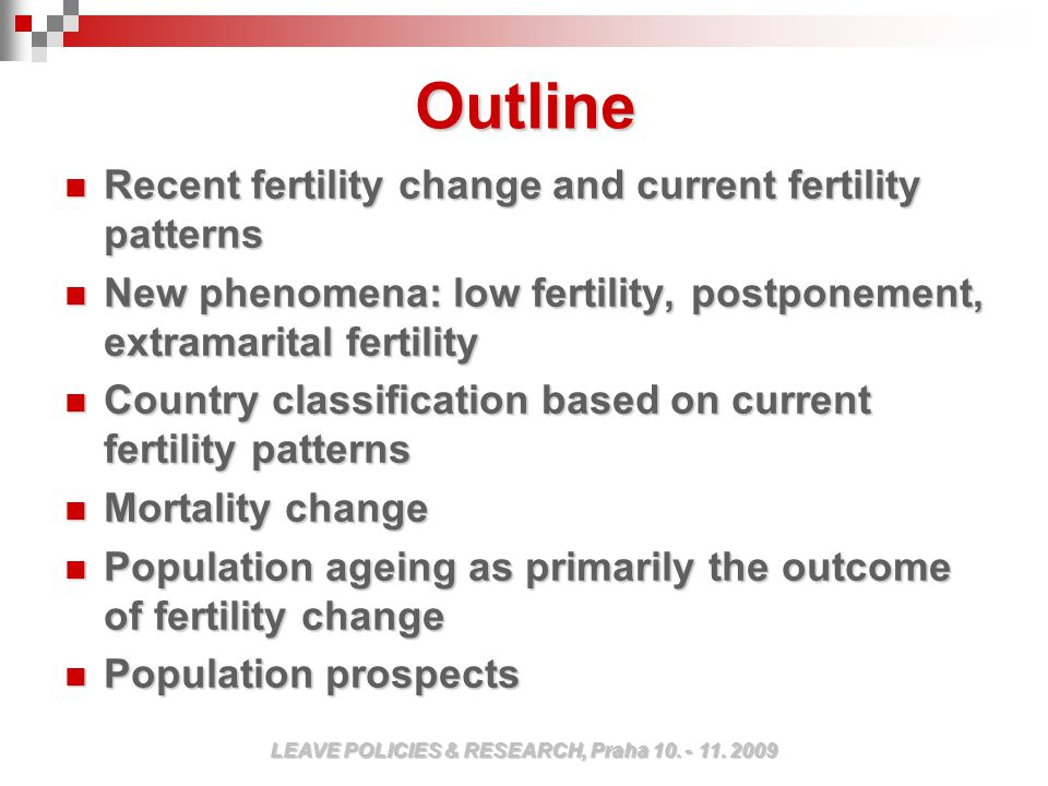 In the past forty years the rate and character of fertility in Europe has changed considerably.