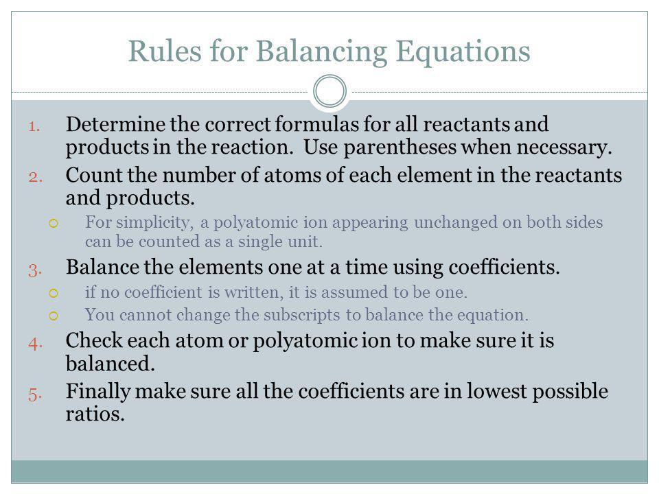 Pop Quiz 1) Ca(OH) 2 + Al 2 (SO 4 ) 3 CaSO 4 + Al(OH) 3 2)Mg + Fe 2 O 3 Fe + MgO 3)C 2 H 4 + O 2 CO 2 + H 2 O 4)PbSO 4 PbSO 3 + O 2