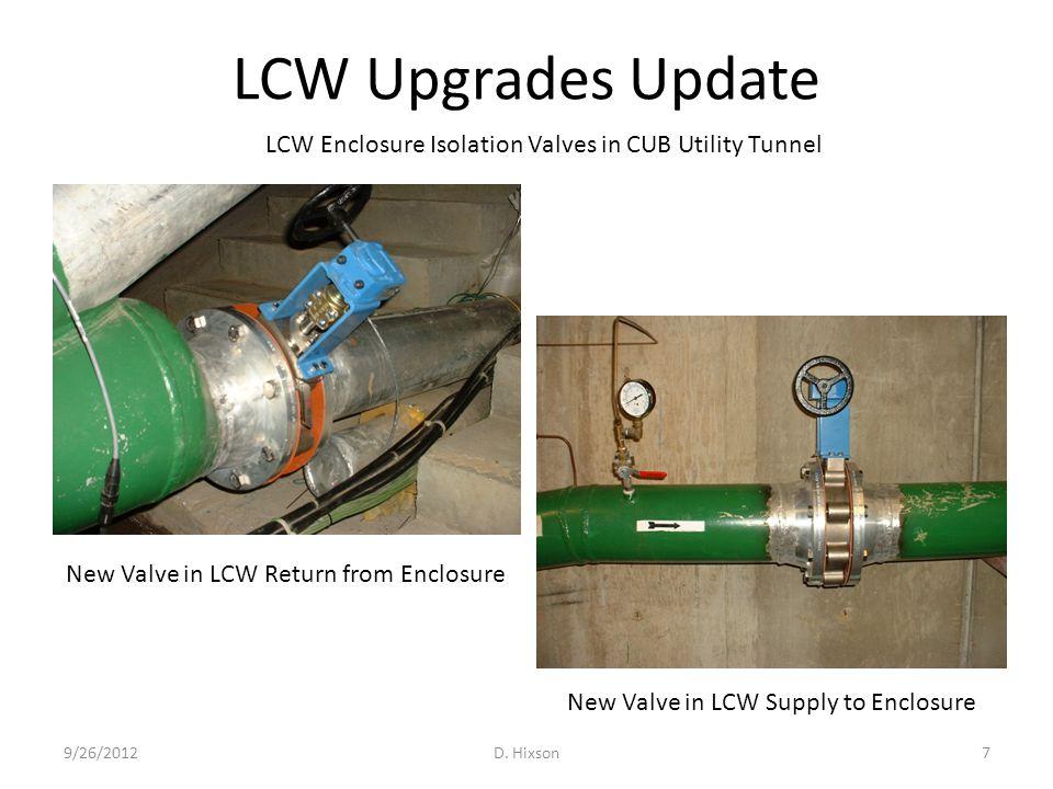 LCW Upgrades Update 9/26/2012D.