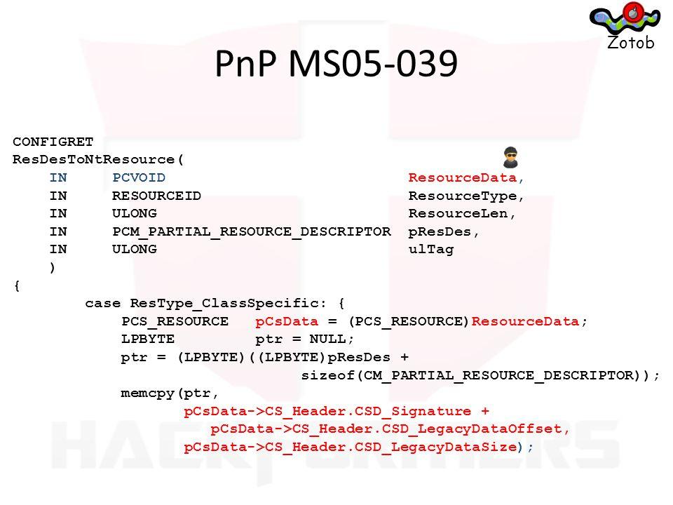 #define SSL2_MAX_CHALLENGE_LEN 32 typedef struct _Ssl2_Client_Hello { DWORD dwVer; DWORD cCipherSpecs; DWORD cbSessionID; DWORD cbChallenge; UCHAR SessionID[SSL3_SESSION_ID_LEN]; UCHAR Challenge[SSL2_MAX_CHALLENGE_LEN]; Ssl2_Cipher_Kind CipherSpecs[MAX_UNI_CIPHERS]; } Ssl2_Client_Hello, * PSsl2_Client_Hello; SP_STATUS Pct1SrvHandleUniHello(..., PSsl2_Client_Hello pHello,...) { Pct1_Client_Hello ClientHello;...