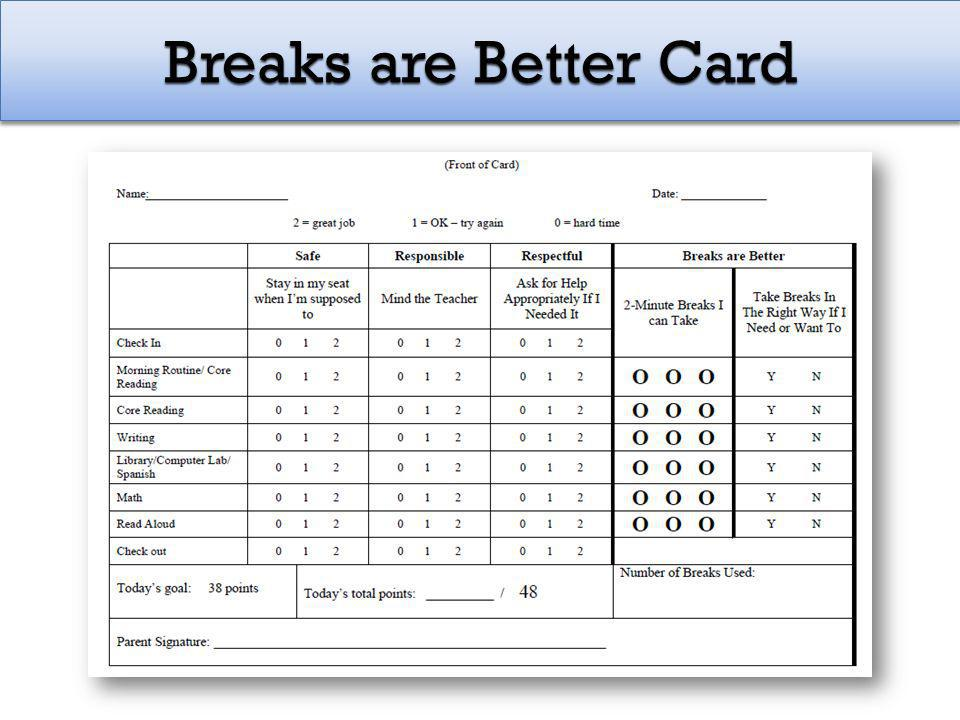 Breaks are Better Card