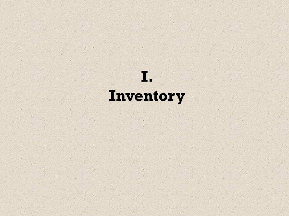 I. Inventory