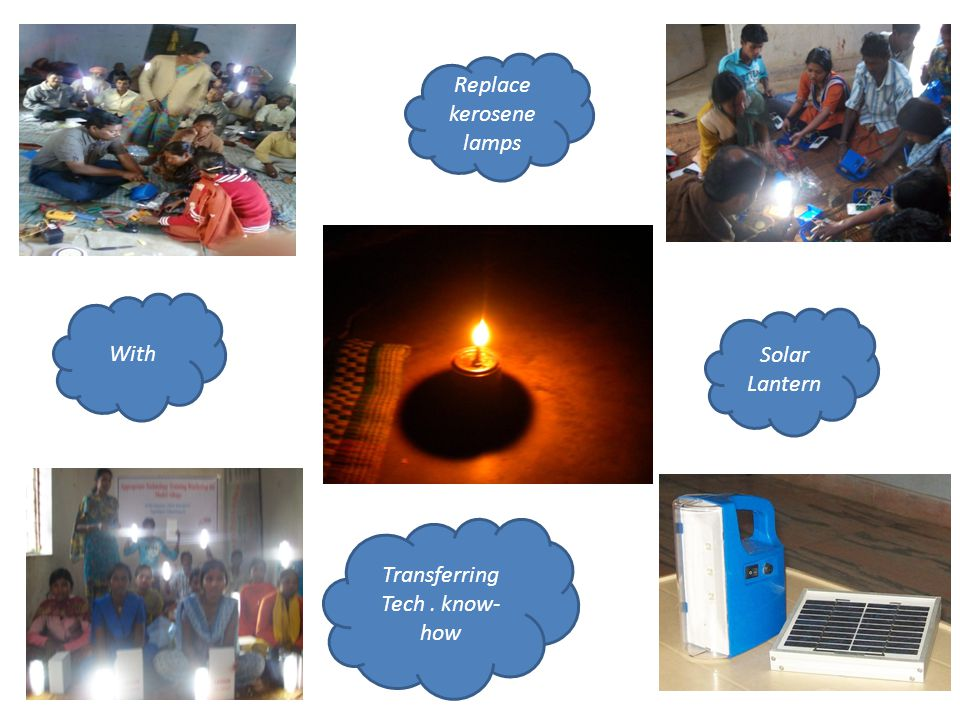 Solar Lantern Replace kerosene lamps Transferring Tech. know- how kerosene With
