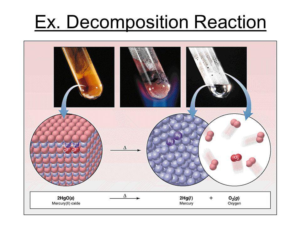 Ex. Decomposition Reaction