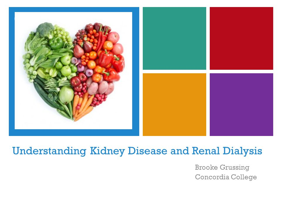 + Learning Objectives Acquire a better understanding of the stages of Chronic Kidney Disease (CKD) and its risk factors Become informed about the progression of kidney disease into End Stage Renal Disease (ESRD) Learn about the Medical Nutrition Therapy (MNT) for the two main types of dialysis; hemodialysis and peritoneal dialysis Gain knowledge about a realistic ethical issue renal patients may face and current research on avoiding protein-energy malnutrition in this population