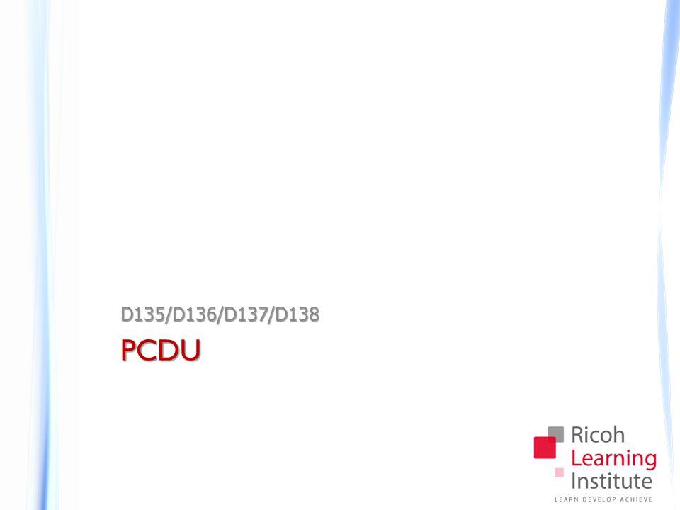 PCDU D135/D136/D137/D138