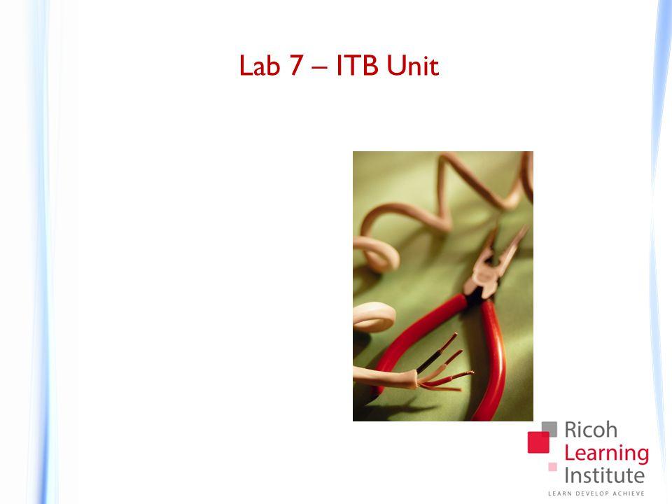 Lab 7 – ITB Unit