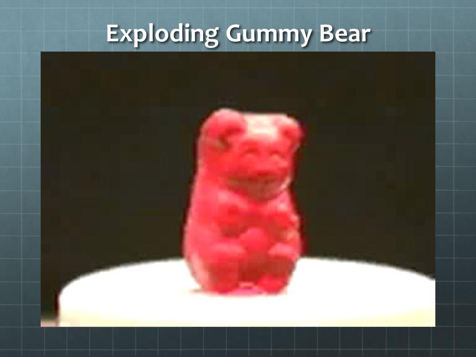 Exploding Gummy Bear