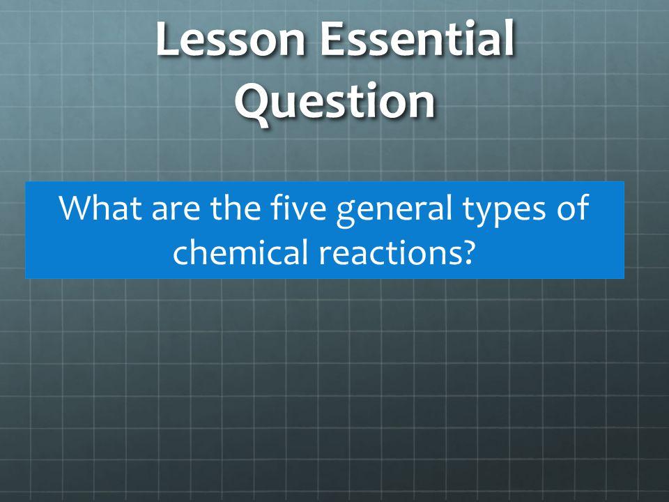 Five Basic Reaction Types