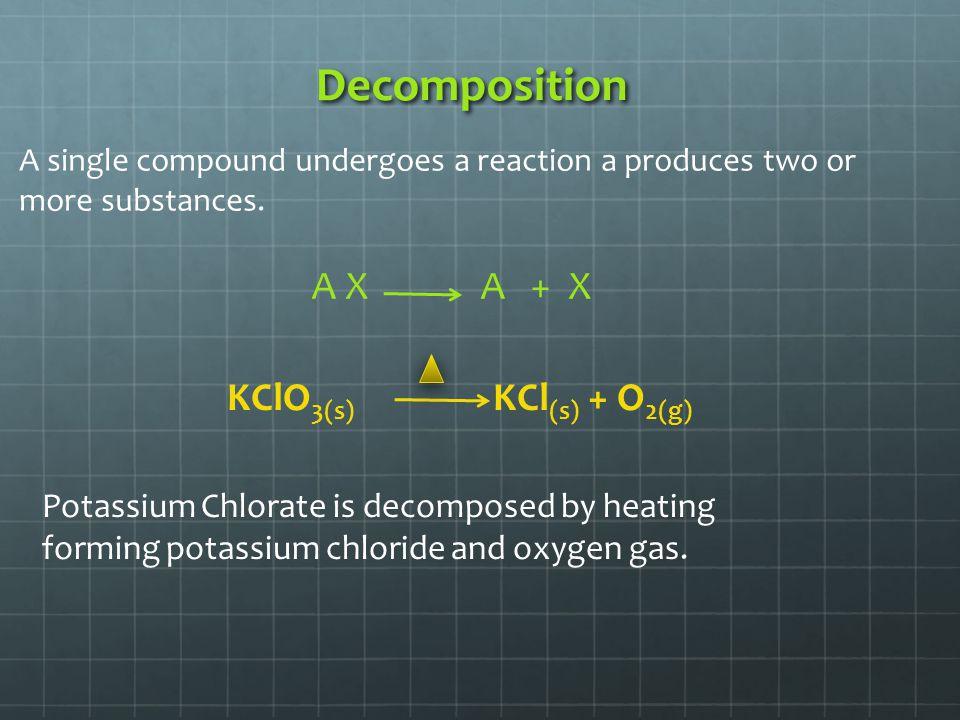Decomposition of Sugar