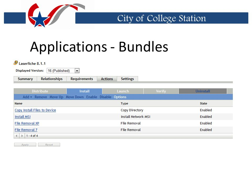 City of College Station Applications - Bundles
