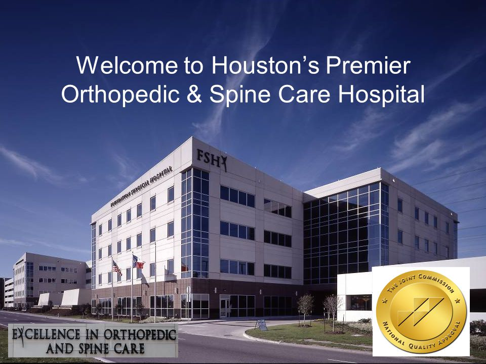Welcome to Houstons Premier Orthopedic & Spine Care Hospital