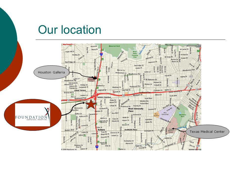 Our location Houston Galleria Texas Medical Center