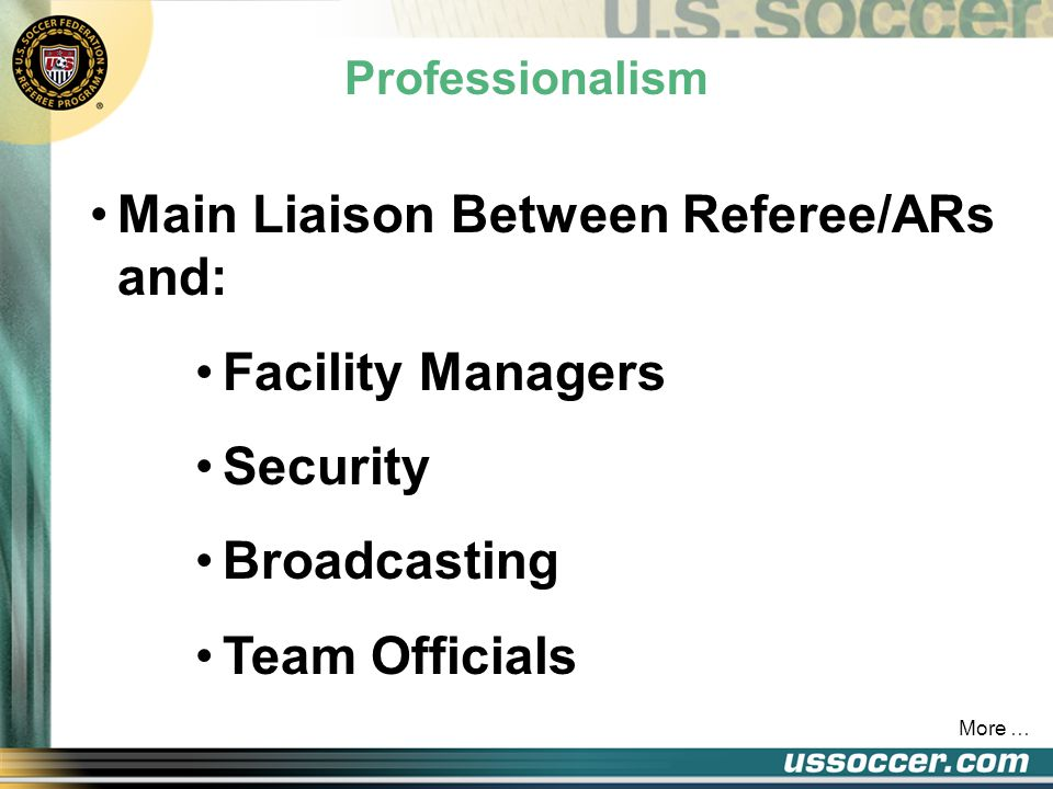 The Fourth Official Review Assist Administrative Duties Substitution And Equipment Check Replacement Match Balls More …