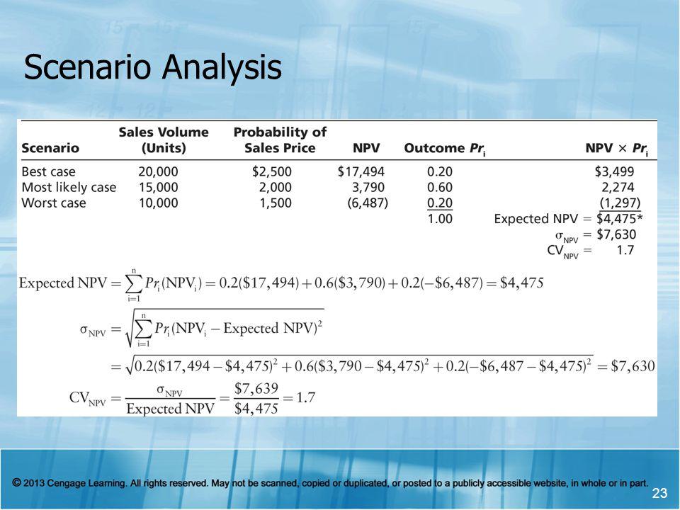 Scenario Analysis 23