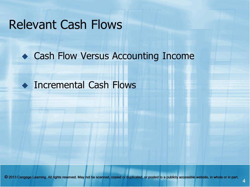 Relevant Cash Flows Cash Flow Versus Accounting Income Incremental Cash Flows 4
