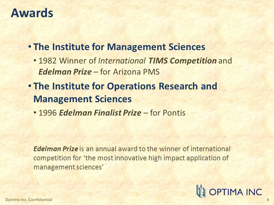 Risk Assessment and Quantification Optima Inc.