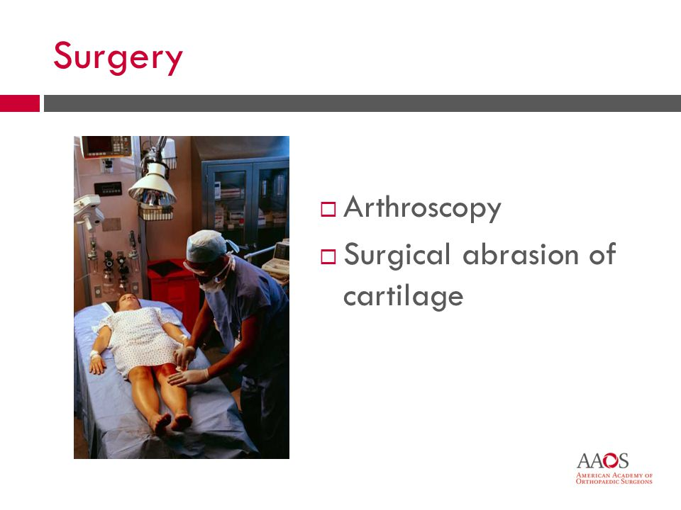 43 Surgery Arthroscopy Surgical abrasion of cartilage