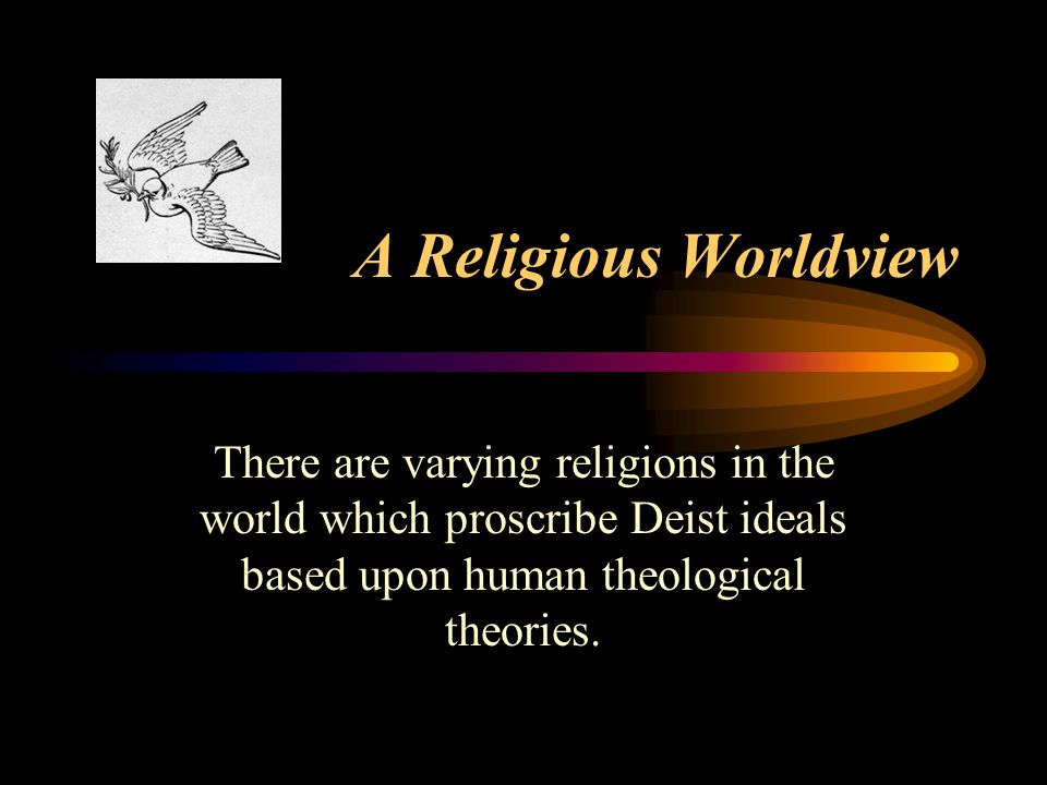 The Secular Worldview (postmodernism) A secular world view is a view of the world that is void of any spiritual factors and relies solely on human rationale.