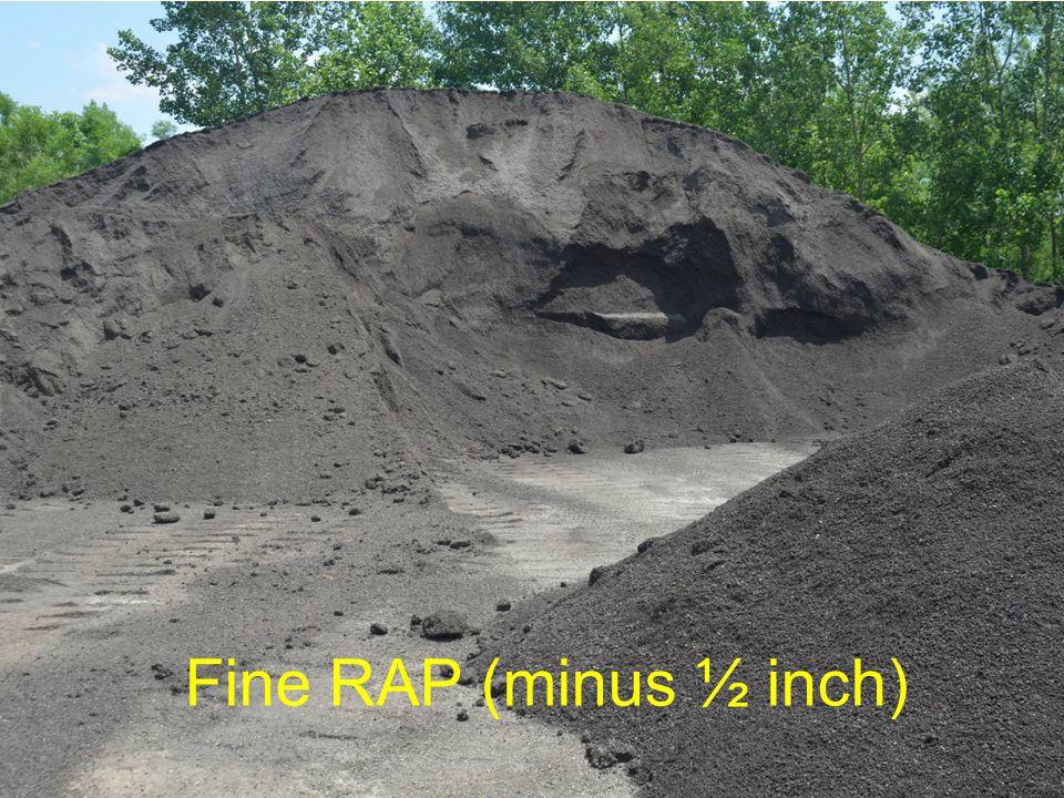 Fine RAP (minus ½ inch)