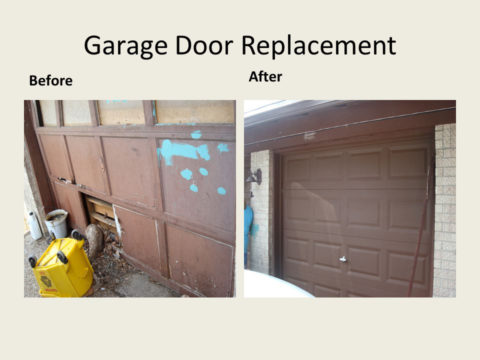 Garage Door Replacement Before After