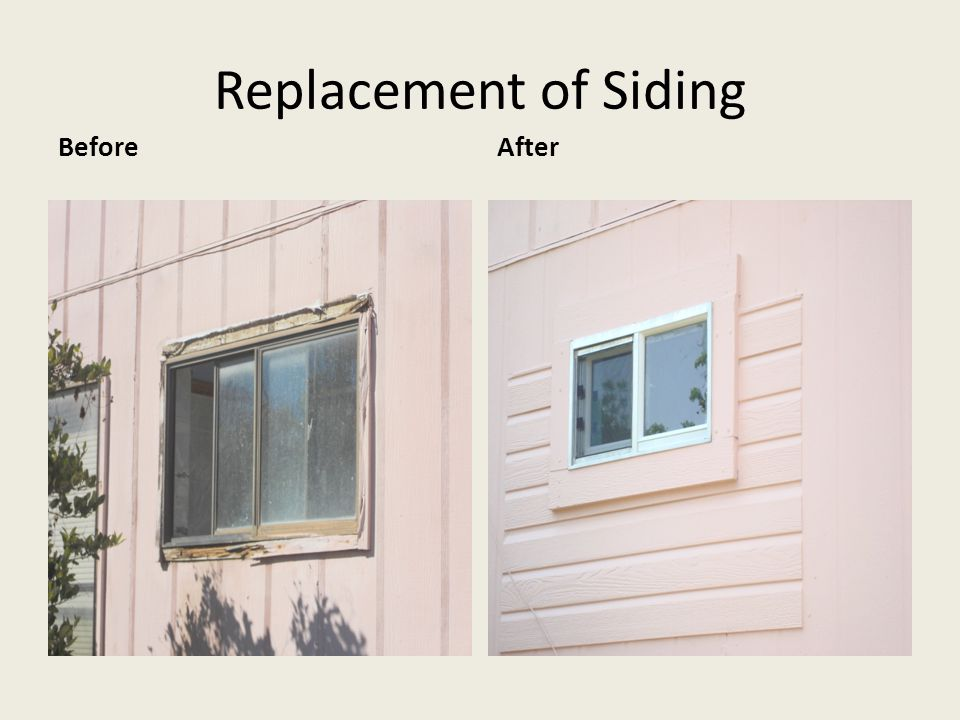 Replacement of Siding BeforeAfter