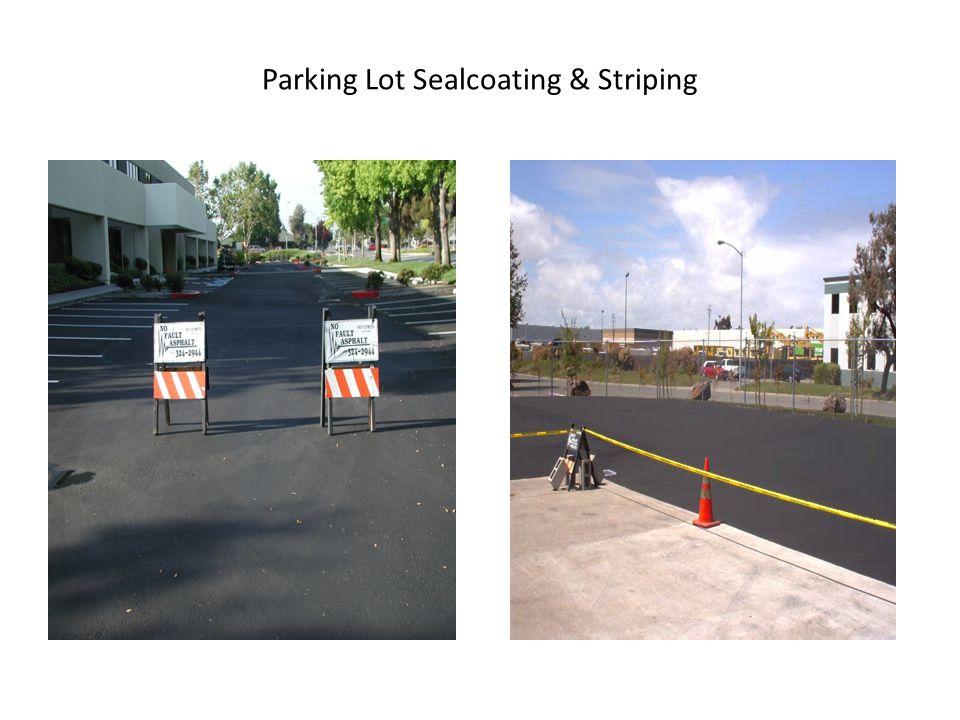 Parking Lot Sealcoating & Striping