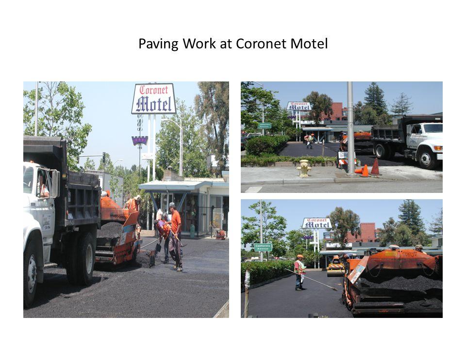 Paving Work at Coronet Motel