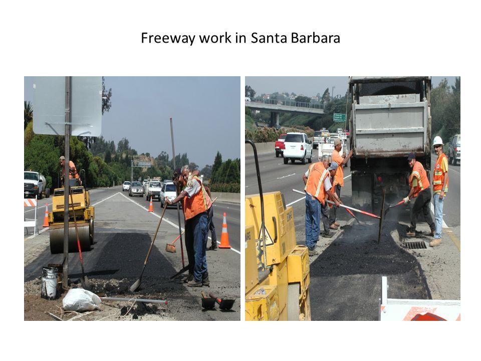 Freeway work in Santa Barbara