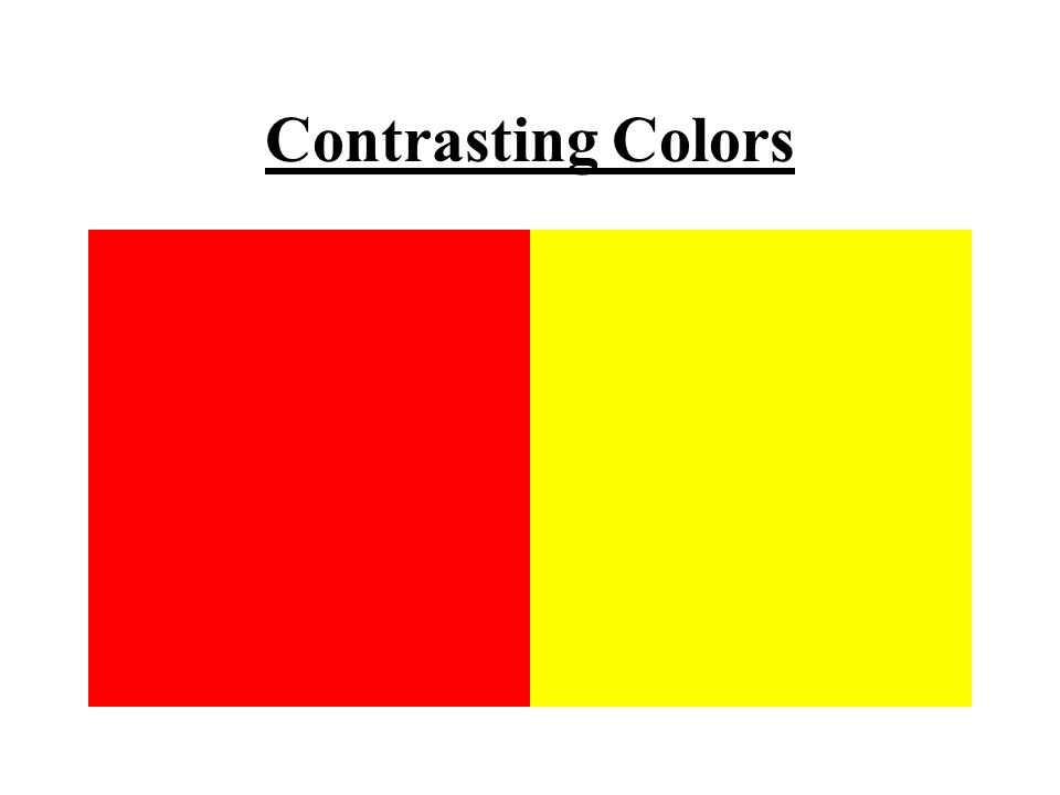 9 Contrasting Colors