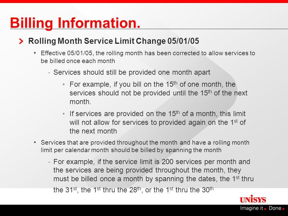Billing Information.