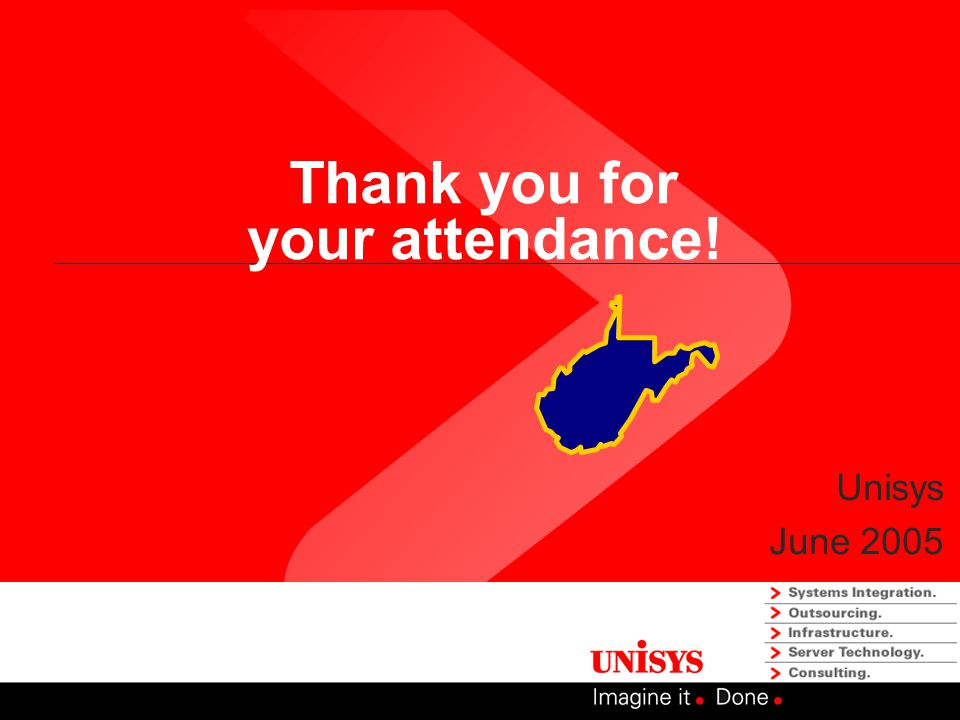 Thank you for your attendance! Unisys June 2005