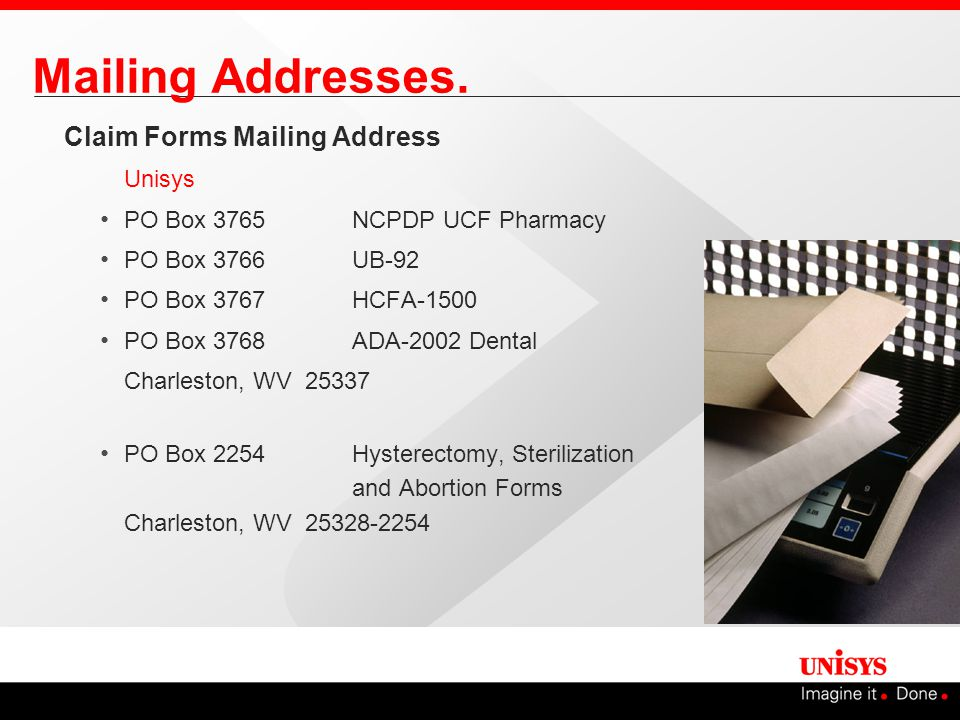 Mailing Addresses.