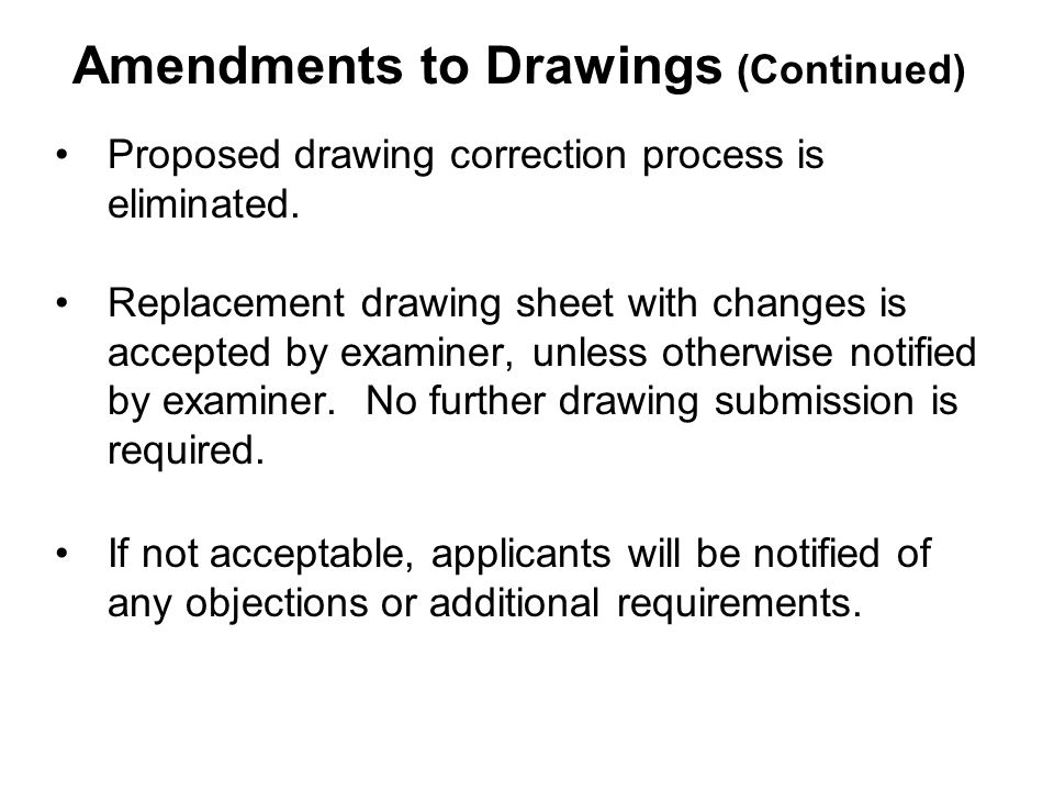 Proposed drawing correction process is eliminated.
