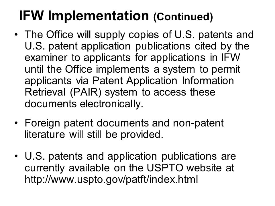 The Office will supply copies of U.S.patents and U.S.