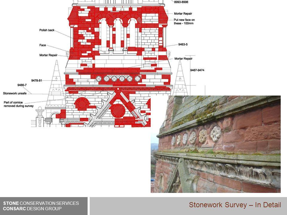 STONE CONSERVATION SERVICES CONSARC DESIGN GROUP Stonework Survey – In Detail