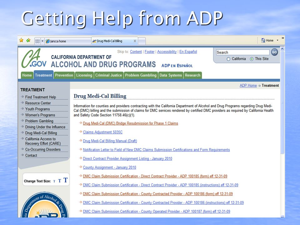 Getting Help from ADP