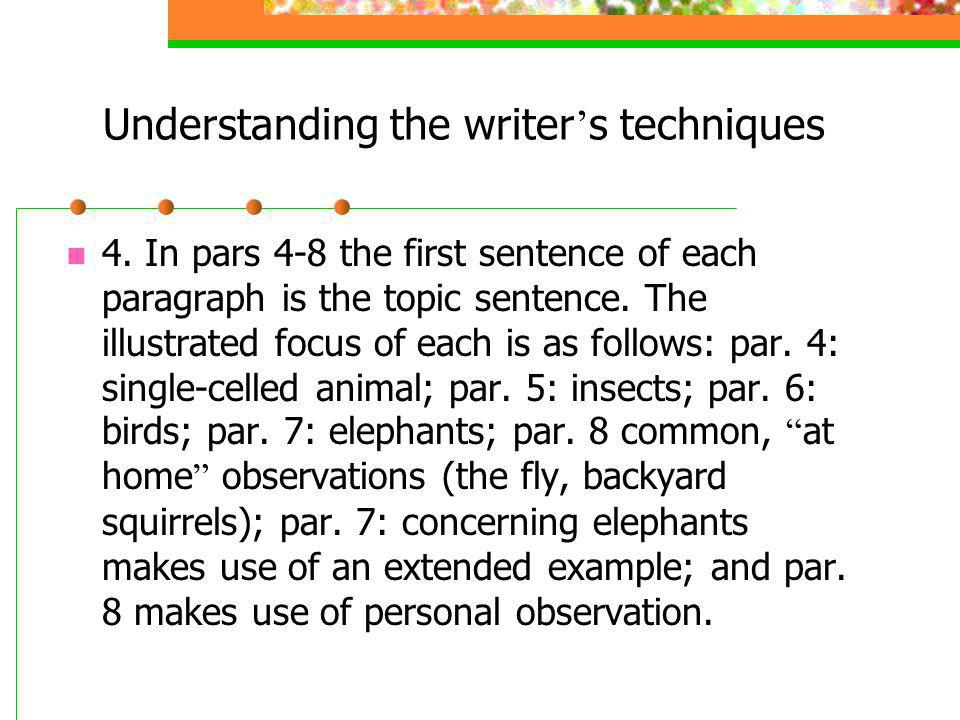 Understanding the writer s techniques 4.