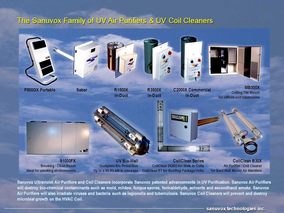 - Irradiates bacteria, viruses and mold - Destroys chemical & biological odors - High Efficiency UV-C / V Air Purifier - 6,808 microwatts per/cm² of U