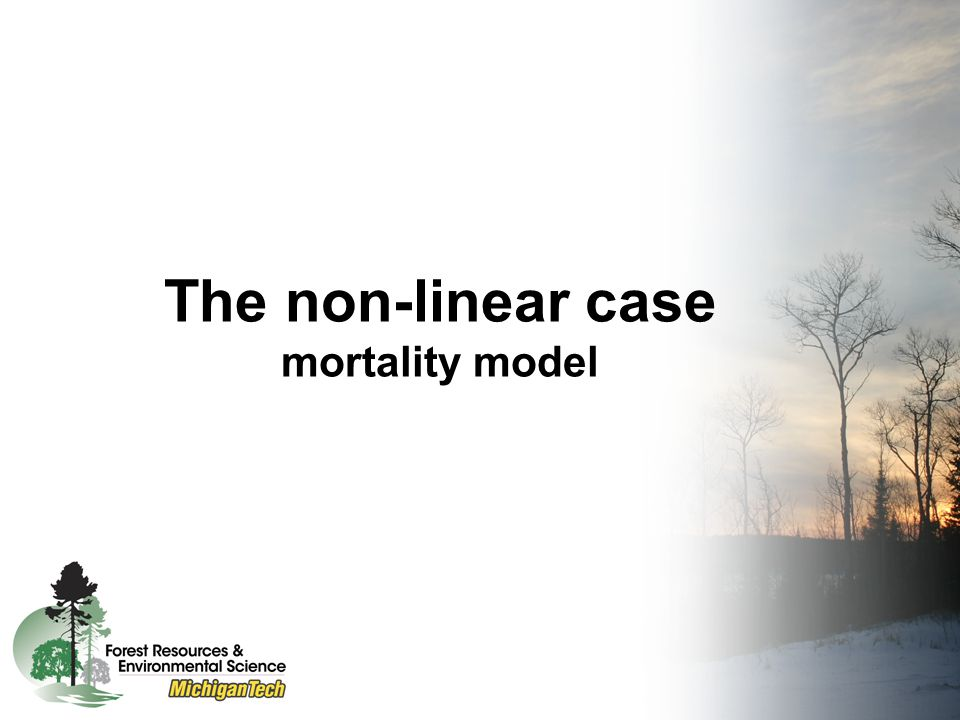 The non-linear case The effects of measurement error are more complex –The bias could be under or over- estimated, even for the variables that are measured without error.