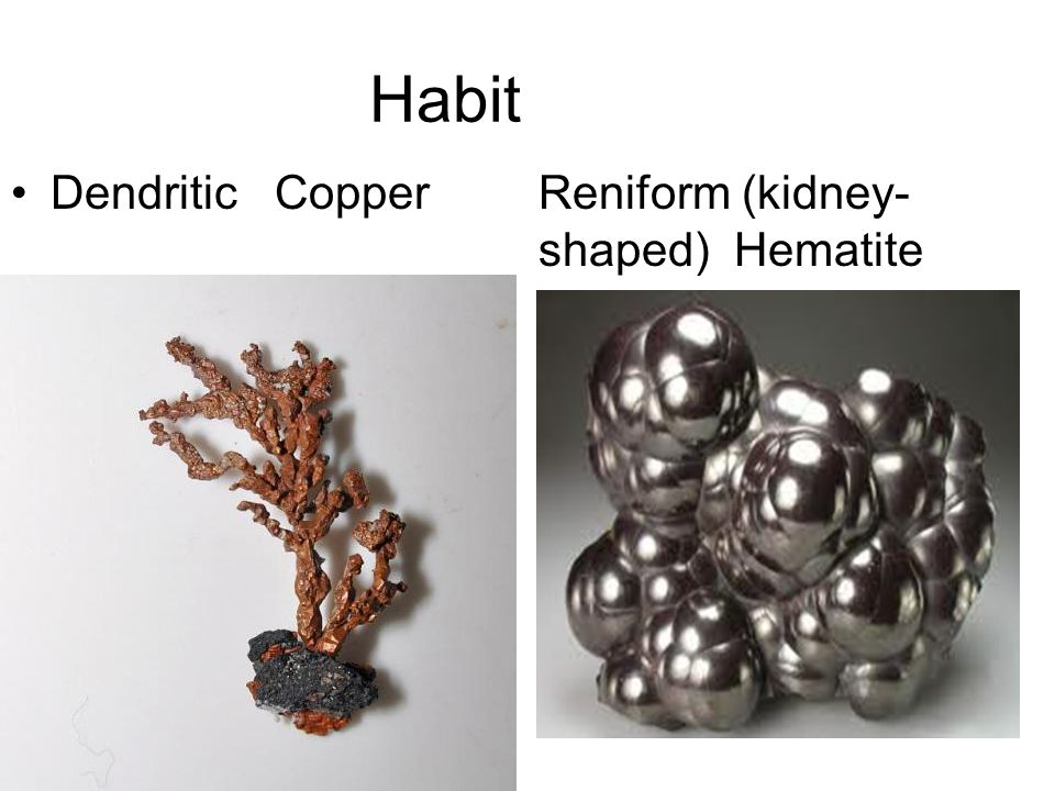HABIT THE CHARACTERISTIC APPEARANCE OF A CRYSTAL.