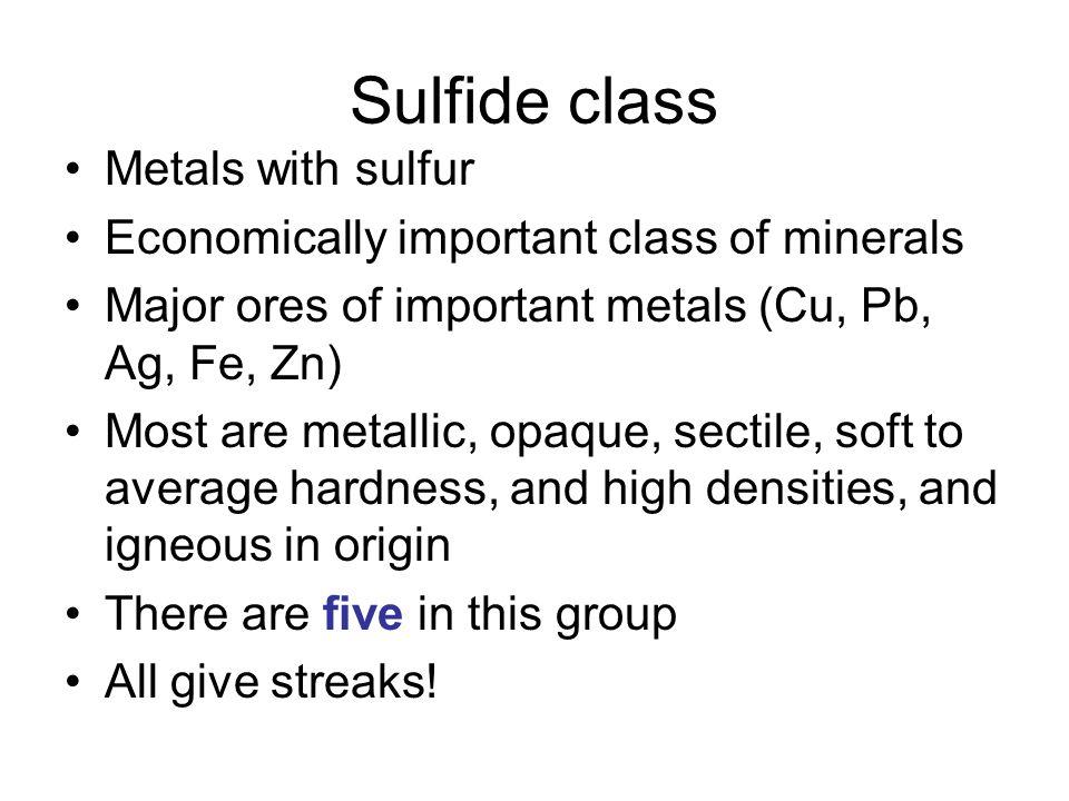 Non Metals Native Elements Graphite, Diamond & Sulfur