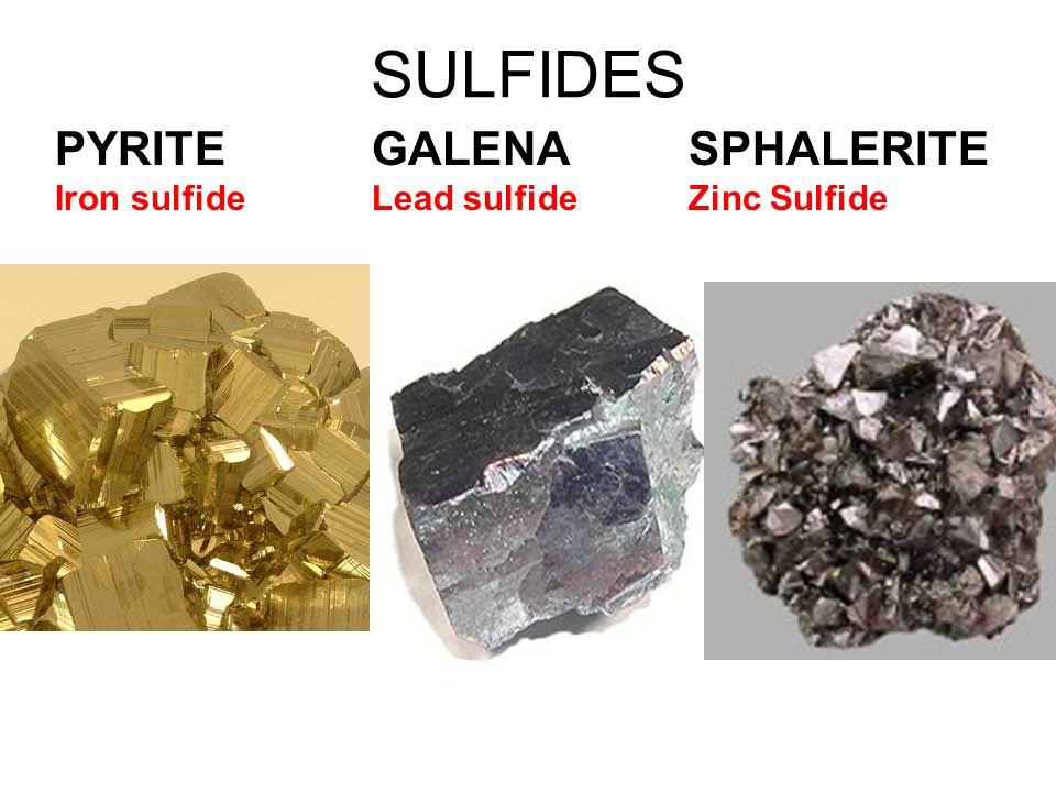 SULFIDES Copper Iron Sulfides BORNITECHALCOPYRITE