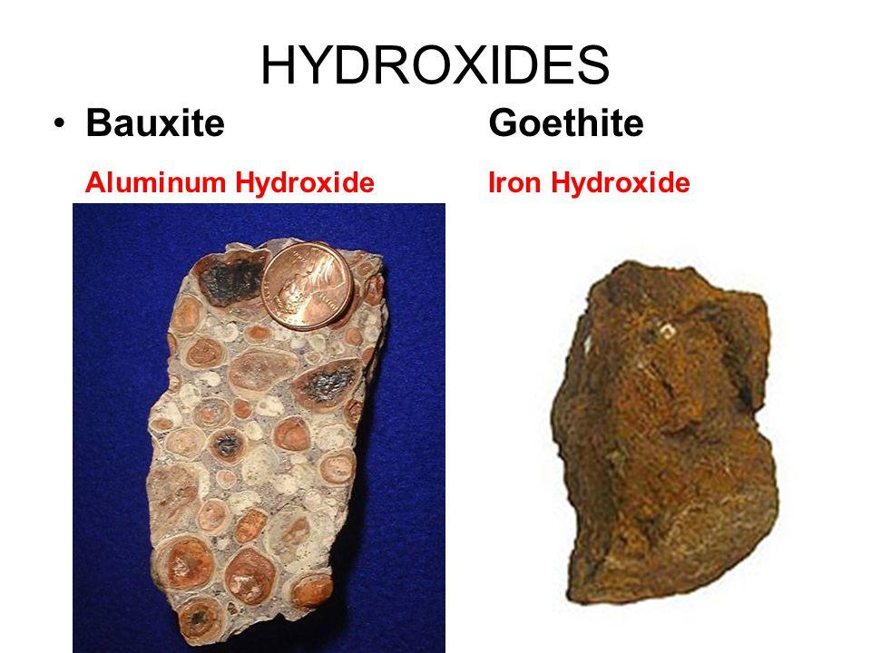 OXIDES CorundumHematiteMagnetite Aluminum OxideIron OxideIron Oxide