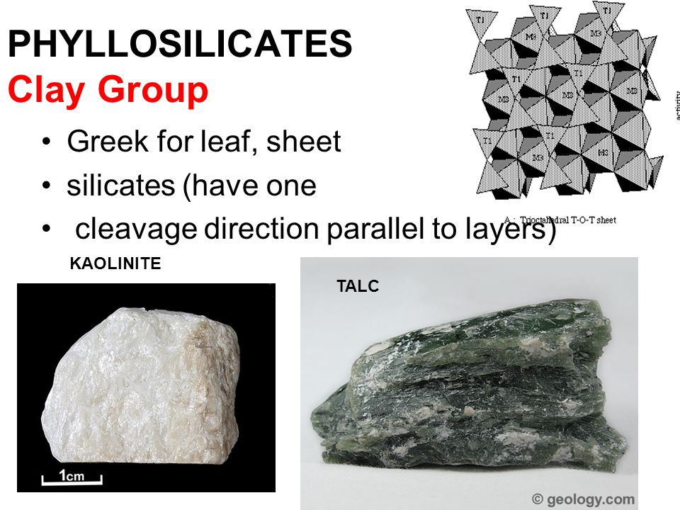 TECTOSILICATES SIO 2 + FELDSPARS A negative charge is created, which introduces the positive metals of K, Na or Ca.